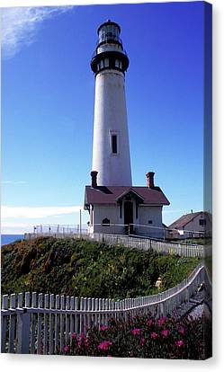 Pigeon Point Lighthouse 3 Canvas Print by Kathy Yates