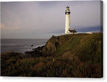 Canvas Print featuring the photograph Pigeon Point Lighthouse by Jim Snyder
