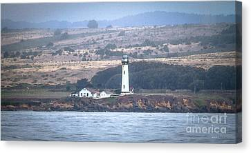 Pigeon Point Lighthouse Canvas Print by Mitch Shindelbower