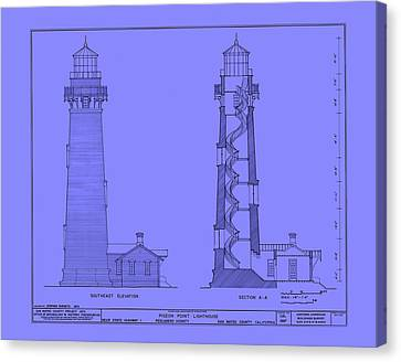 Pigeon Point Lighthouse Plan - California Canvas Print by Mountain Dreams