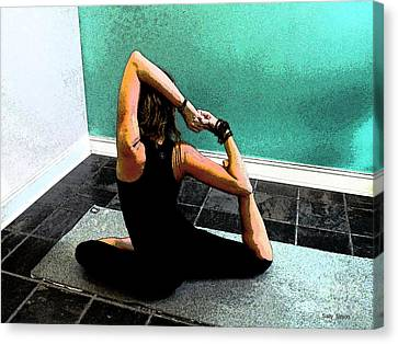 Pigeon Pose Variation Canvas Print by Sally Simon