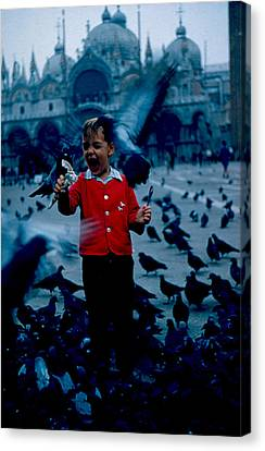 Pigeons Galore 1961 Canvas Print by Cumberland Warden