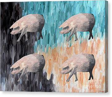 Piggies Canvas Print by Patrick J Murphy