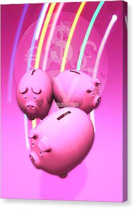 Piggy Bank Canvas Print - Piggy Banks by Victor Habbick Visions