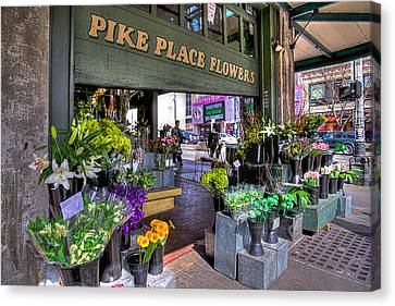 Pike Place Flowers Canvas Print