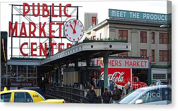 Pike Place Market Center Canvas Print