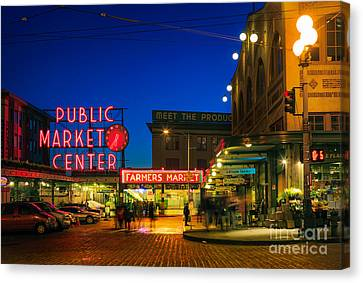 Pike Place Market Canvas Print