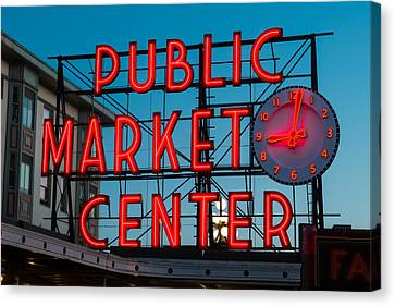 Pike Place Public Market Seattle Canvas Print by Steve Gadomski