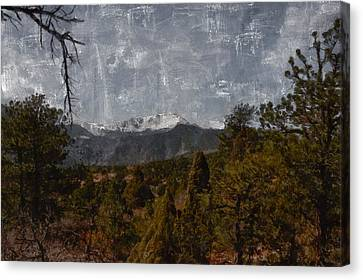 Pikes Peak 1 Digital Painting Canvas Print