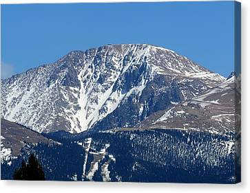 Pikes Peak Close-up Canvas Print by Marilyn Burton