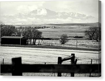 Pikes Peak From Ramah Canvas Print
