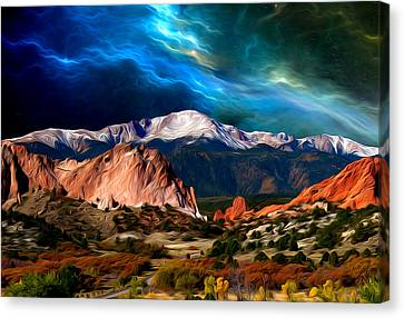 Pikes Peak Feelin' It... Canvas Print