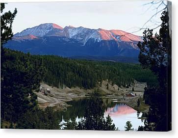 Pikes Peak Sunset Canvas Print