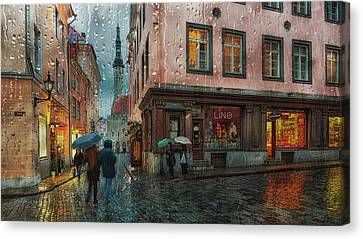 Water Tower Canvas Print - Pikk by Eduard Gorobets