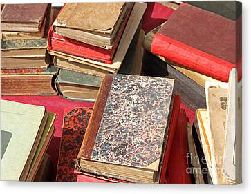 Piles Of Old Books Canvas Print by Kiril Stanchev