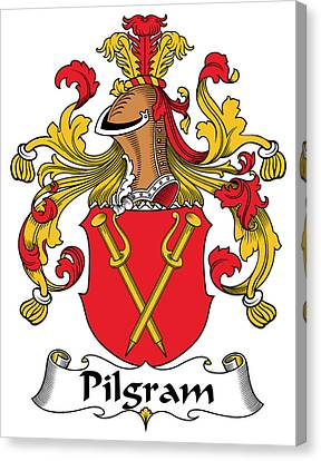 Pilgram Coat Of Arms German Canvas Print