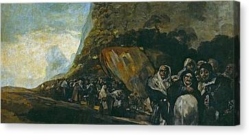 Pilgrimage To The Well Of San Isidro Canvas Print by Francisco Goya