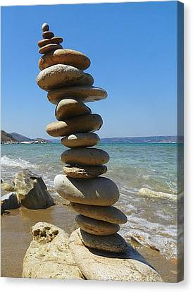 Piling Up Canvas Print