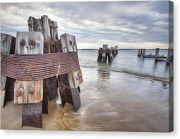 Pilings Canvas Print by Eric Gendron