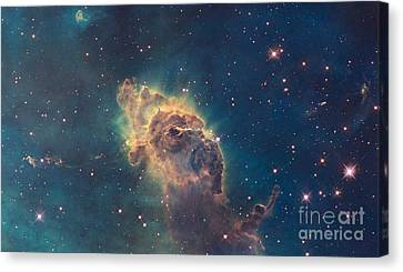 Pillar In The Carina Nebula Canvas Print by Science Source