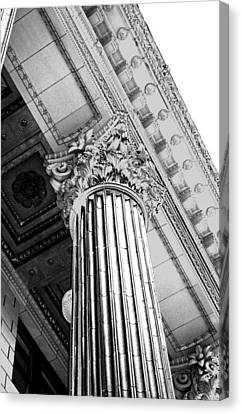 Pillar Of Finance  Canvas Print by Cathie Tyler