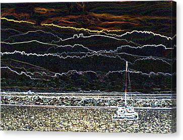 Pillar Point Harbor Below Half Moon Bay Hills Canvas Print