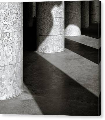 Pillars And Shadow Canvas Print by Dave Bowman