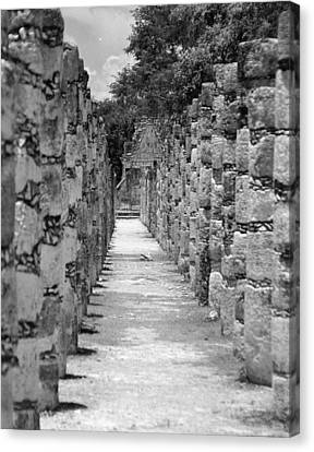 Canvas Print featuring the digital art Pillars In A Row by Kirt Tisdale