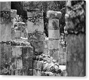 Canvas Print featuring the photograph Pillars In Disarray by Kirt Tisdale