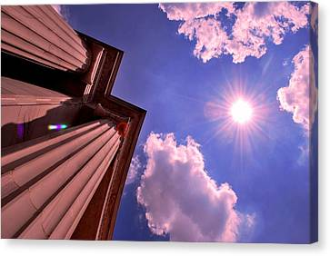 Pillars In The Sun Canvas Print by Matt Harang
