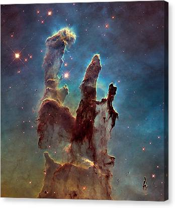 Pillars Of Creation Canvas Print by Celestial Images