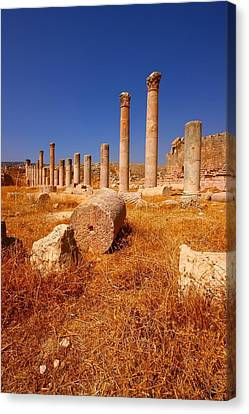 Pillars Of Ruin Canvas Print by FireFlux Studios
