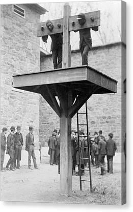 Pillory And Whipping Post, 1880s Canvas Print by Science Photo Library