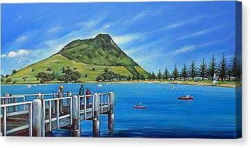 Pilot Bay Mt Maunganui 201214 Canvas Print