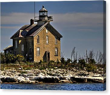 Canvas Print featuring the photograph Pilot Island Lighthouse by Deborah Klubertanz