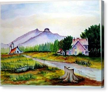 Pilot Mountain Nc Farm Scene Canvas Print