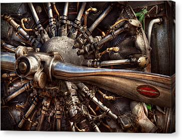 Shiny Canvas Print - Pilot - Plane - Engines At The Ready  by Mike Savad
