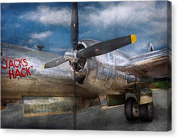 Pilot - Plane - The B-29 Superfortress Canvas Print by Mike Savad