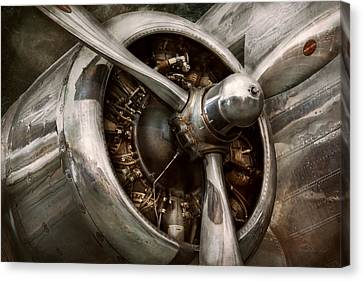 Air Travel Canvas Print - Pilot - Prop - Propulsion by Mike Savad