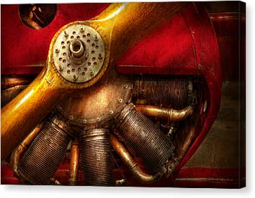 Suburbanscenes Canvas Print - Pilot - Prop - The Barnstormer by Mike Savad