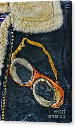 Pilot - Vintage Aviation Goggles Canvas Print by Paul Ward