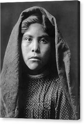 Pima Indian Girl Circa 1907 Canvas Print by Aged Pixel
