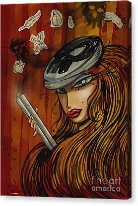 1950s Fashion Canvas Print - Pin Up - Lowar Mafia In Germany by Domenico Condello