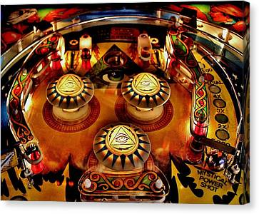 Pinball All Seeing Eye Canvas Print by Benjamin Yeager