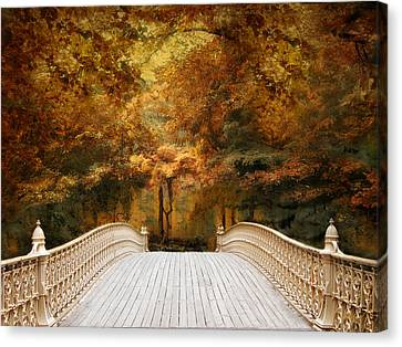 Canvas Print featuring the photograph Pine Bank Autumn by Jessica Jenney