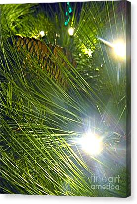 Canvas Print featuring the photograph Pine Cone With Lights by Utopia Concepts