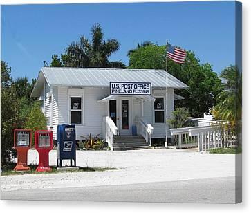 Pine Island Post Office Canvas Print by Melinda Saminski