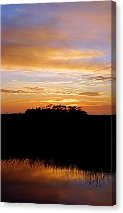 Canvas Print featuring the photograph Pine Island Sunset by Daniel Woodrum