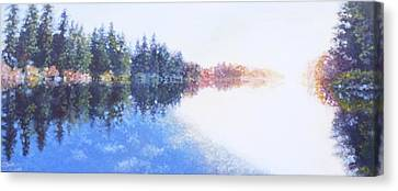 Pine Lake Reflection Canvas Print by Charles Smith