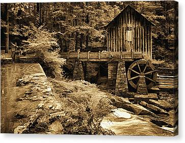 Pine Run Grist Mill Canvas Print by Priscilla Burgers